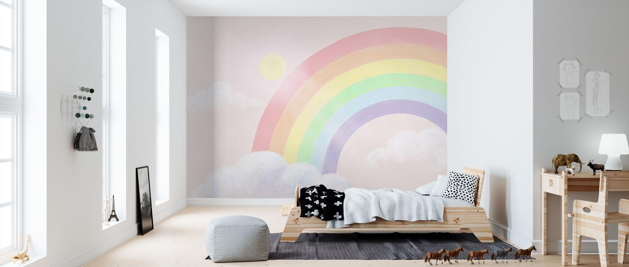 Glitrende Rainbow III - Tapet - Barnerom
