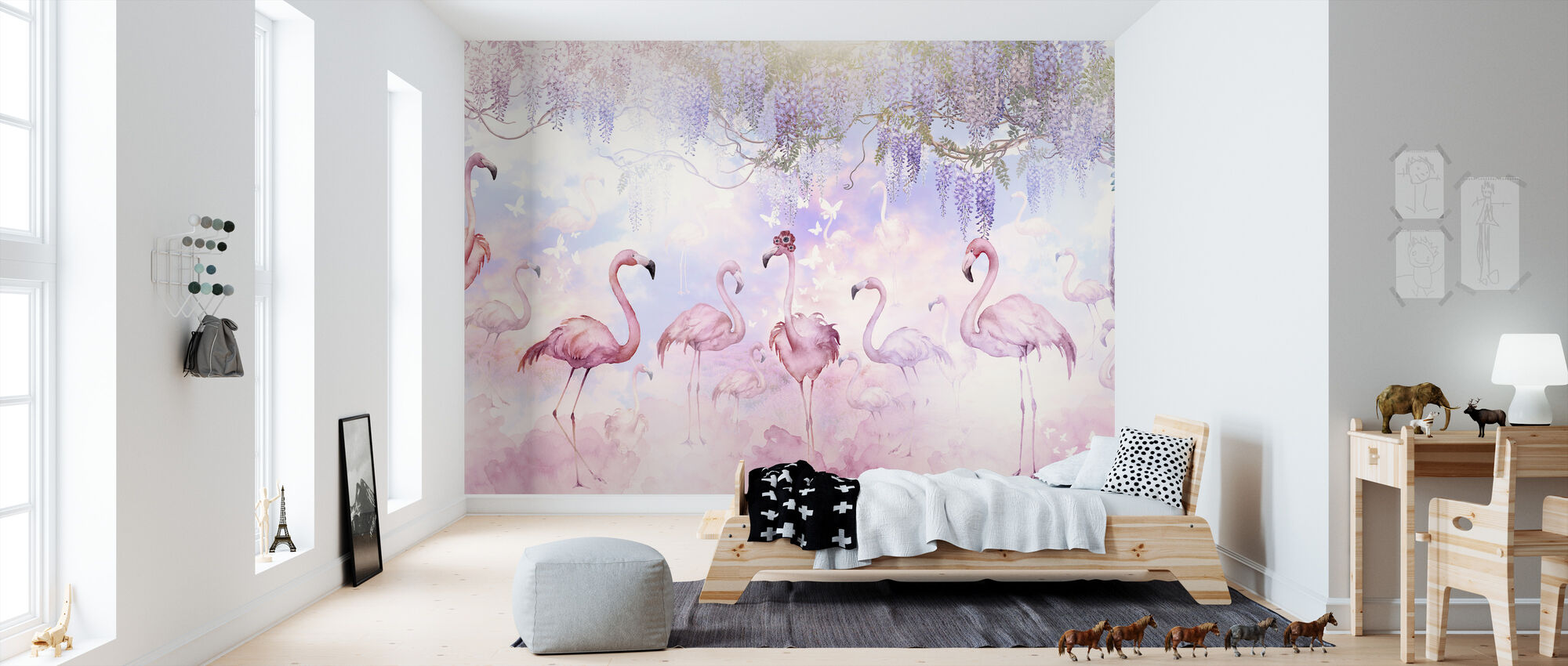 Flamingo Heaven - Wallpaper - Kids Room