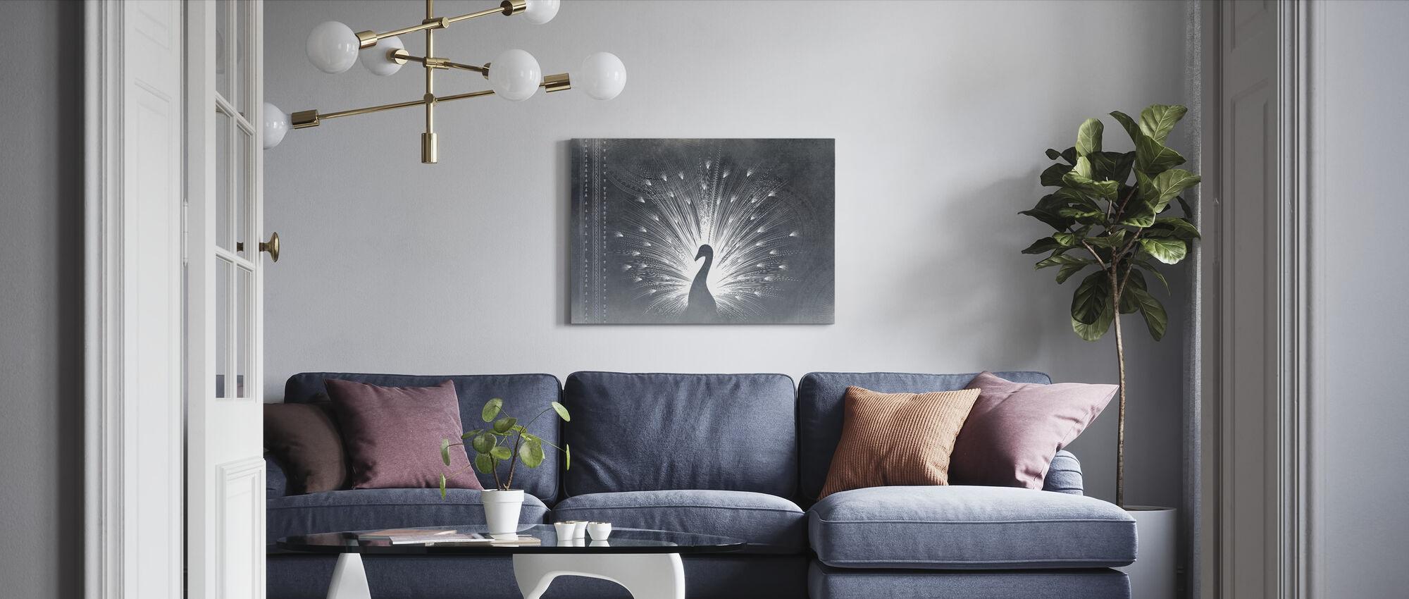 Peacock Deco - Canvas print - Living Room
