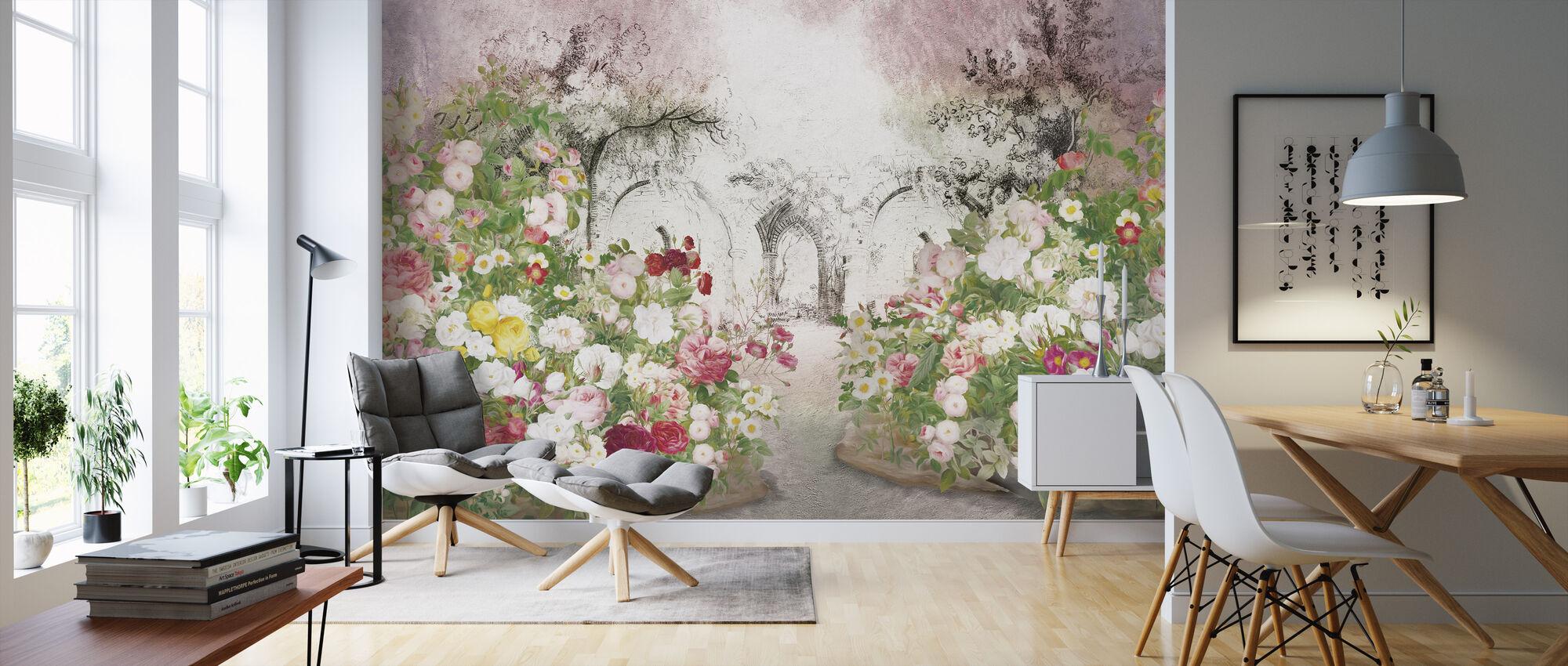 Garden Pencil - Wallpaper - Living Room