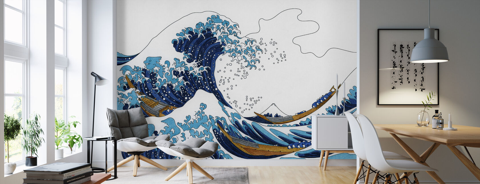 Great Wave of Kanagawa - Wallpaper - Living Room