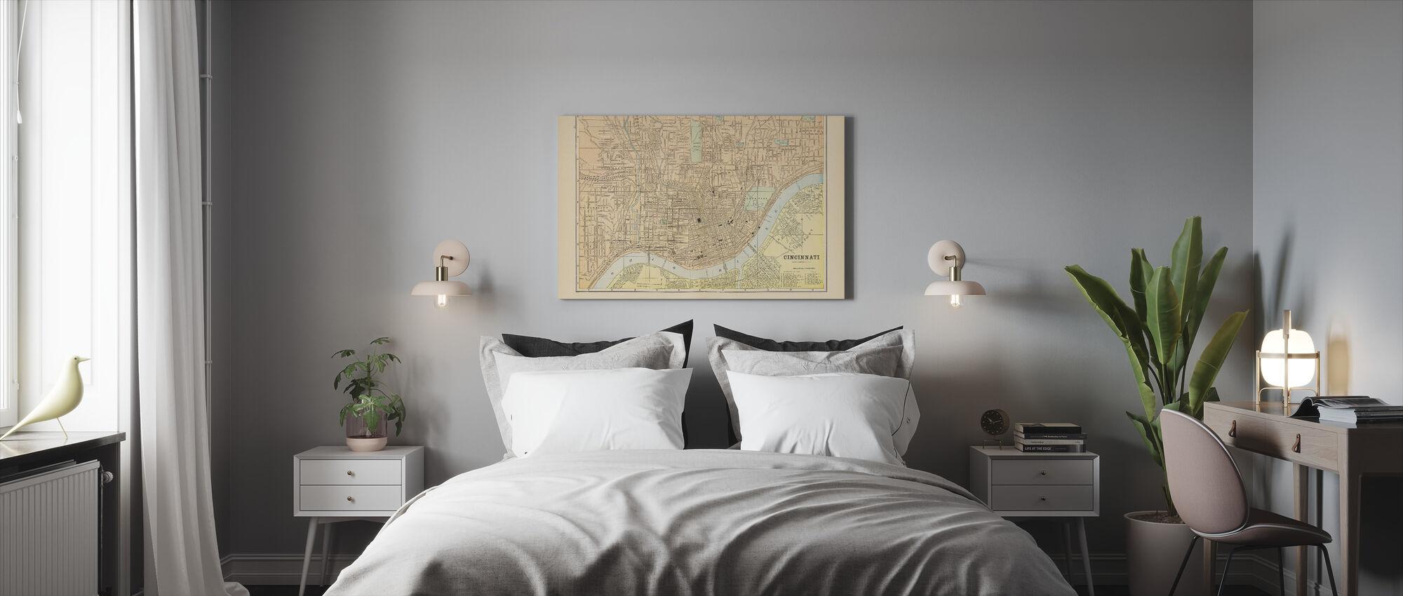Kaart van Cincinnati - Canvas print - Slaapkamer