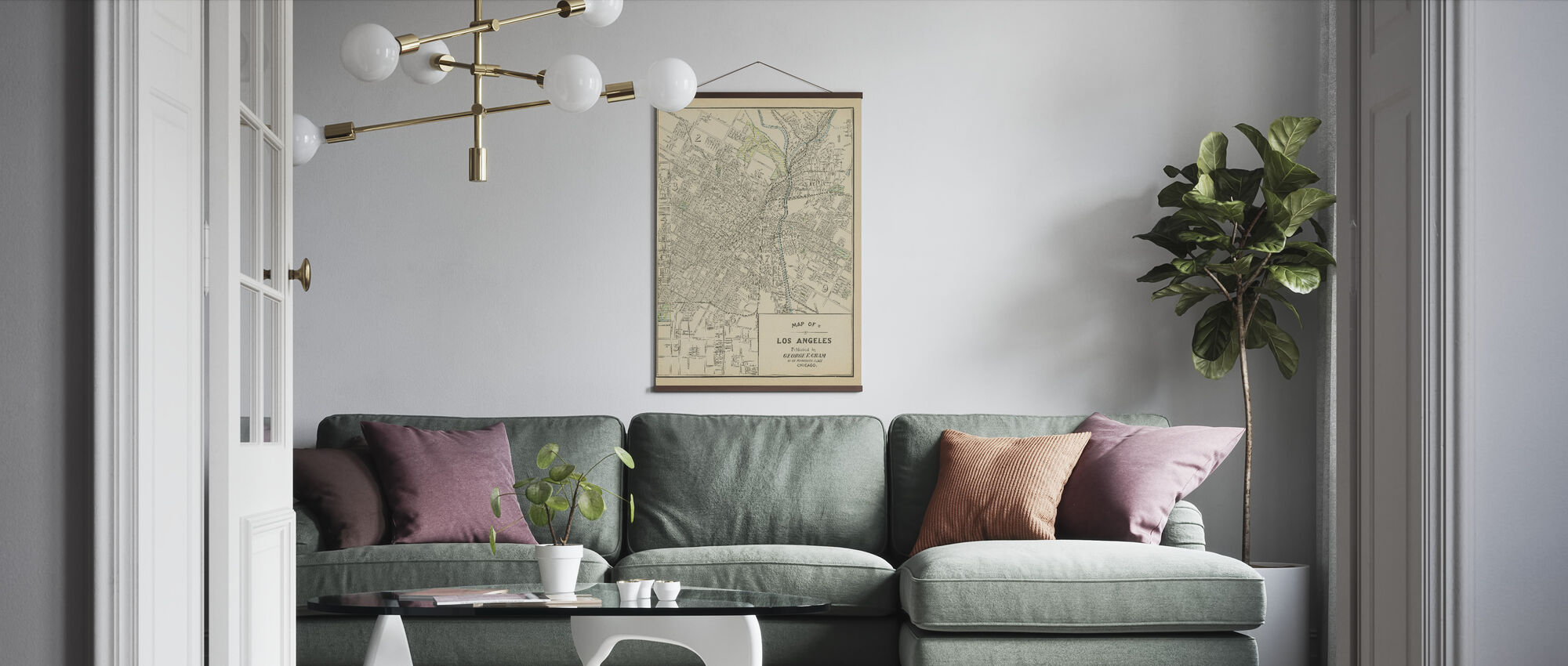 Map of Los Angeles - Poster - Living Room
