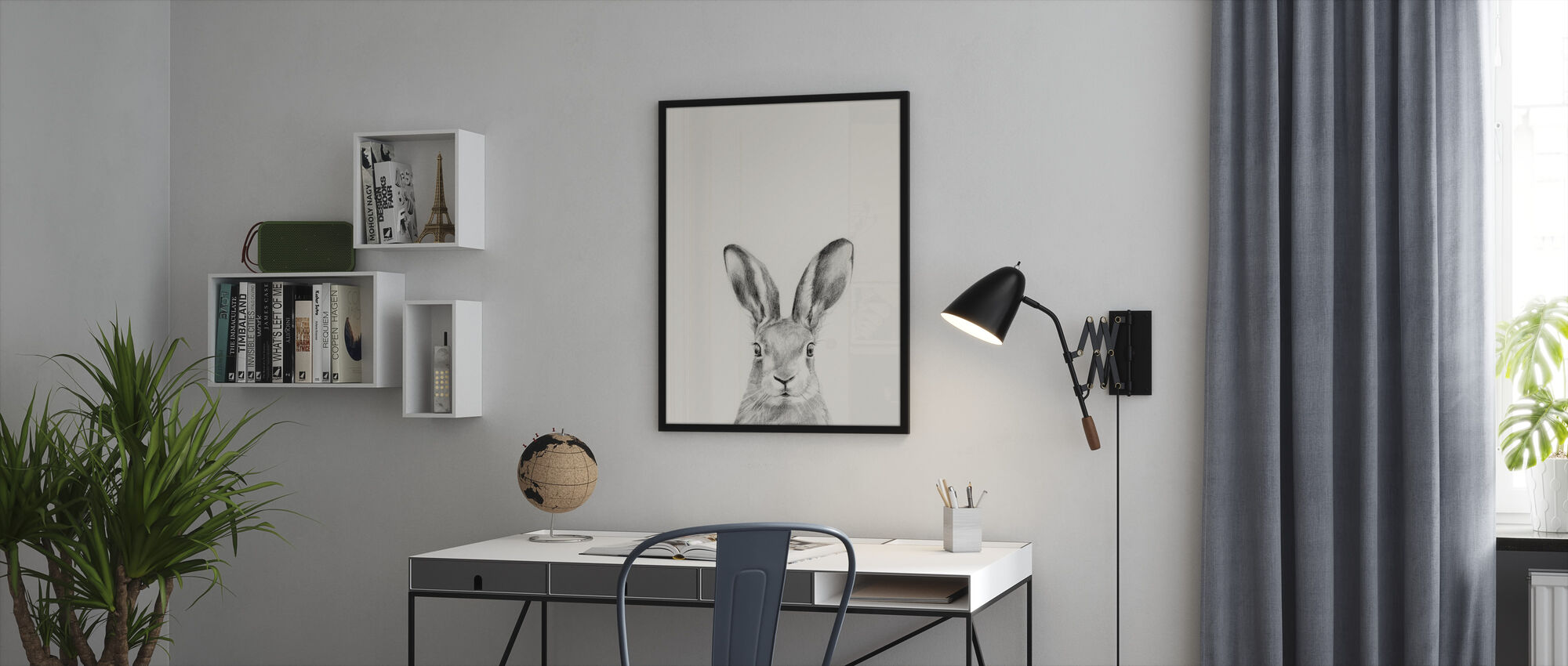 Animal Mug - Framed print - Office