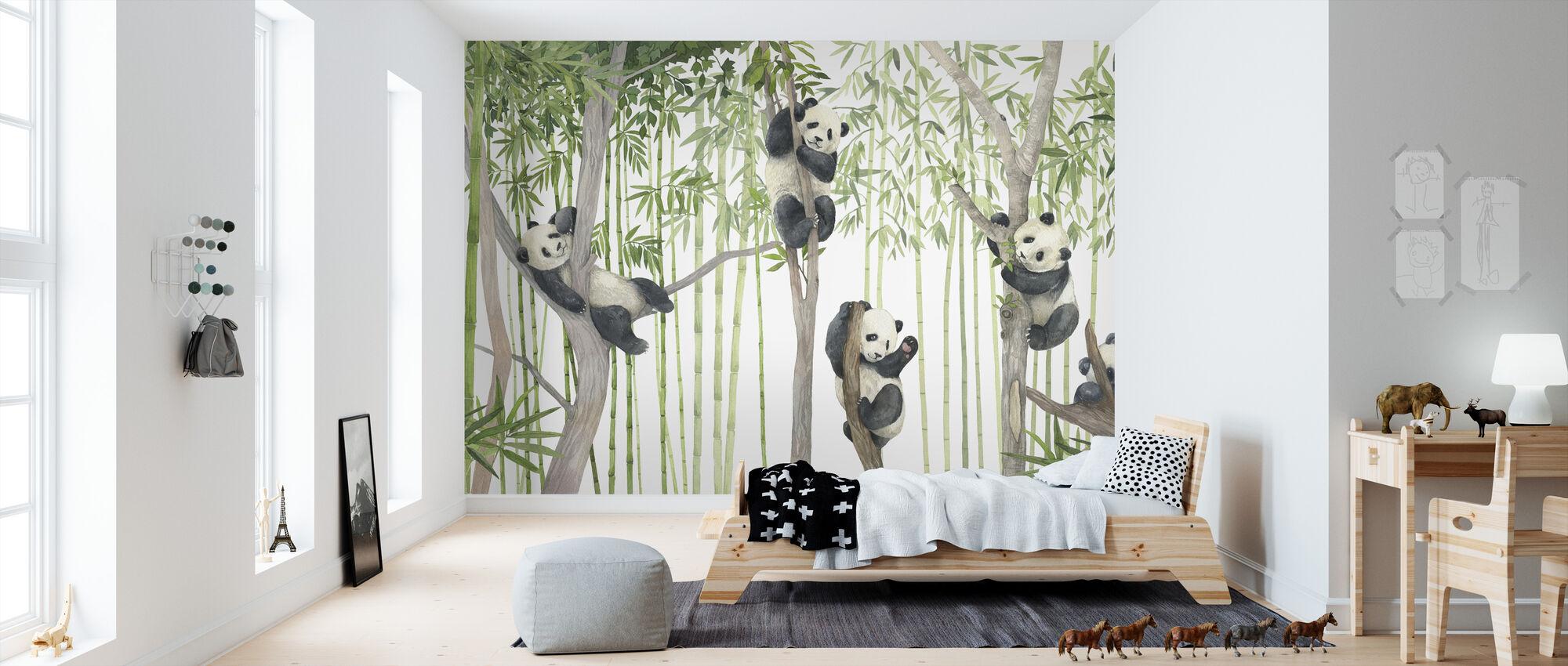 Panda Venner - Lyse - Tapet - Barnerom