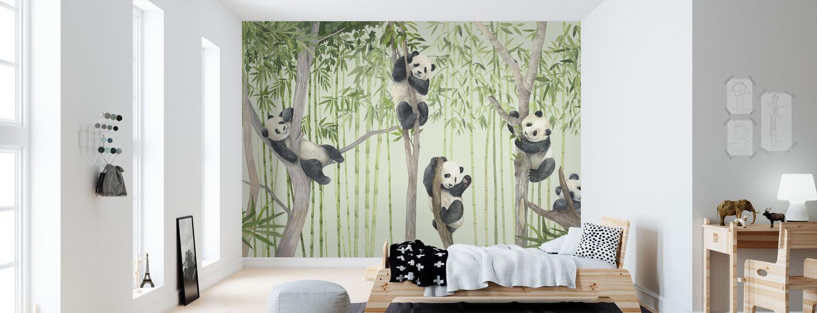 Amici Panda - Carta da parati - Camera dei bambini