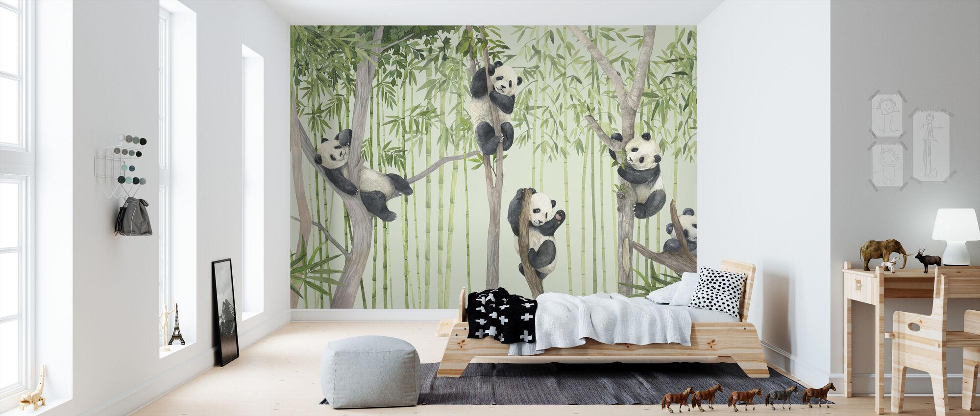 Panda Ystävät - Tapetti - Lastenhuone