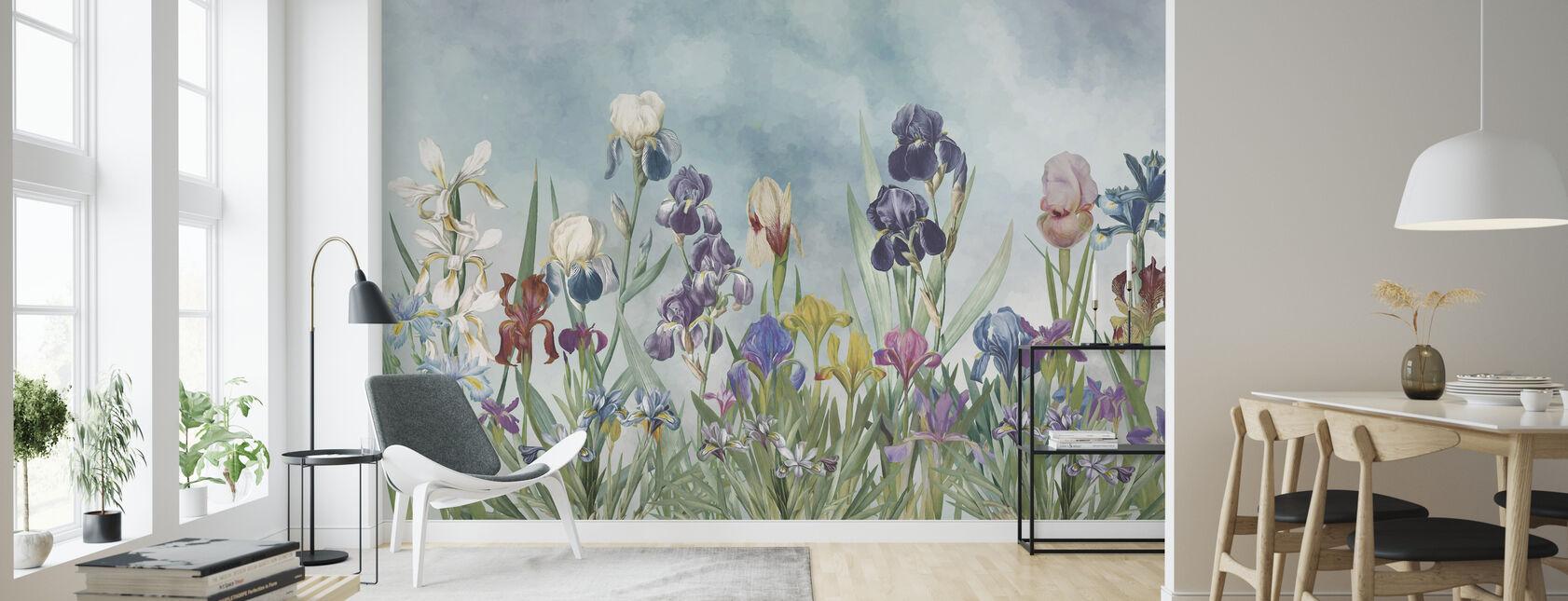 Iris Field - Wallpaper - Living Room