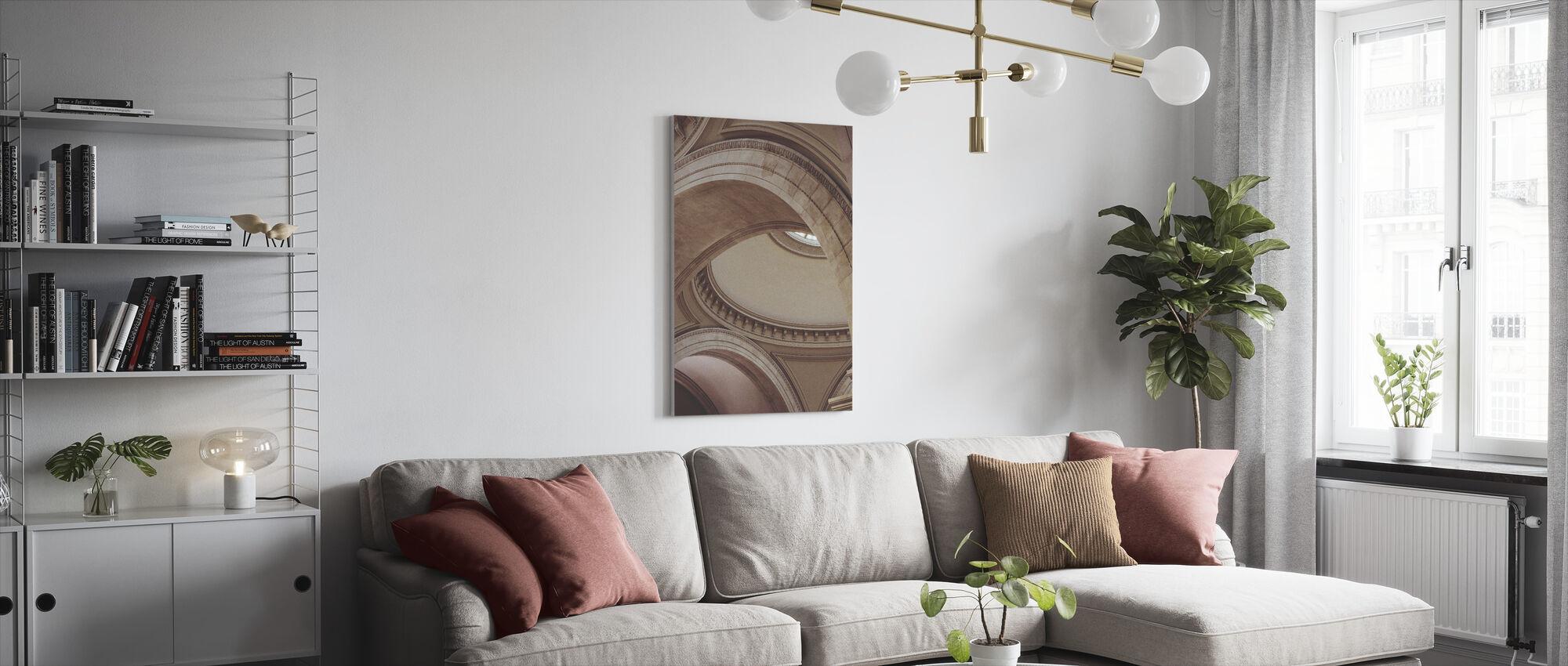 Ceiling Ornamental - Canvas print - Living Room