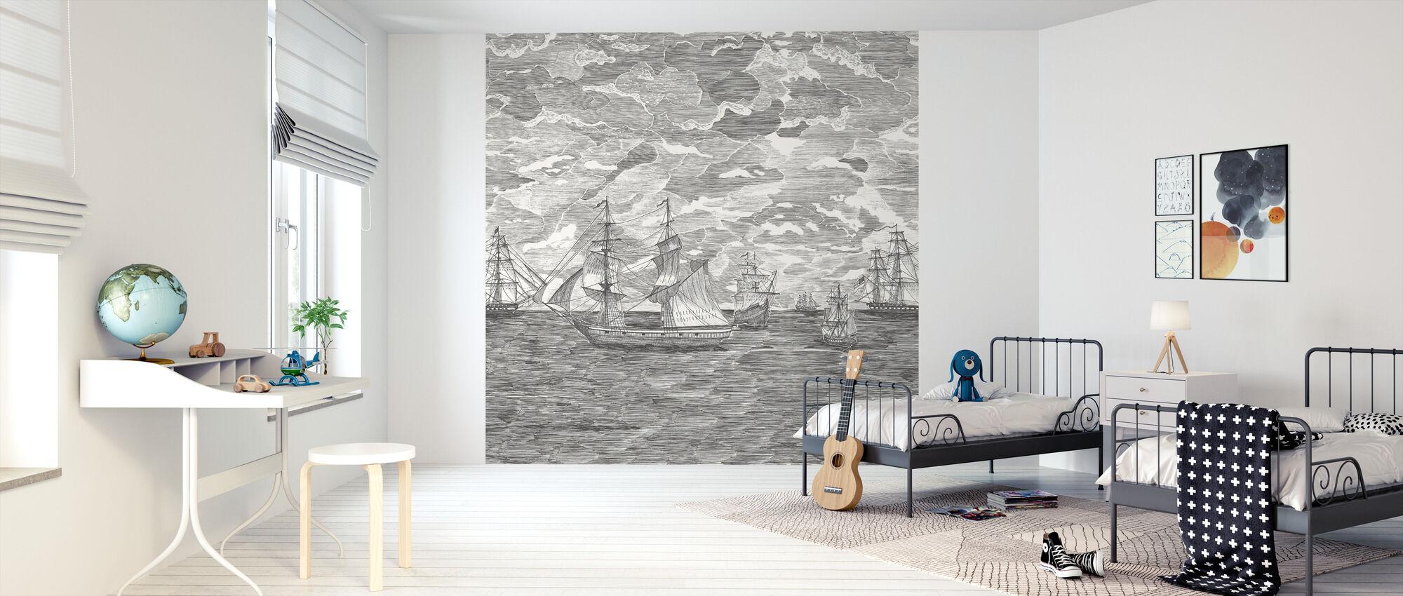 Sail Away - Musta - Tapetti - Lastenhuone