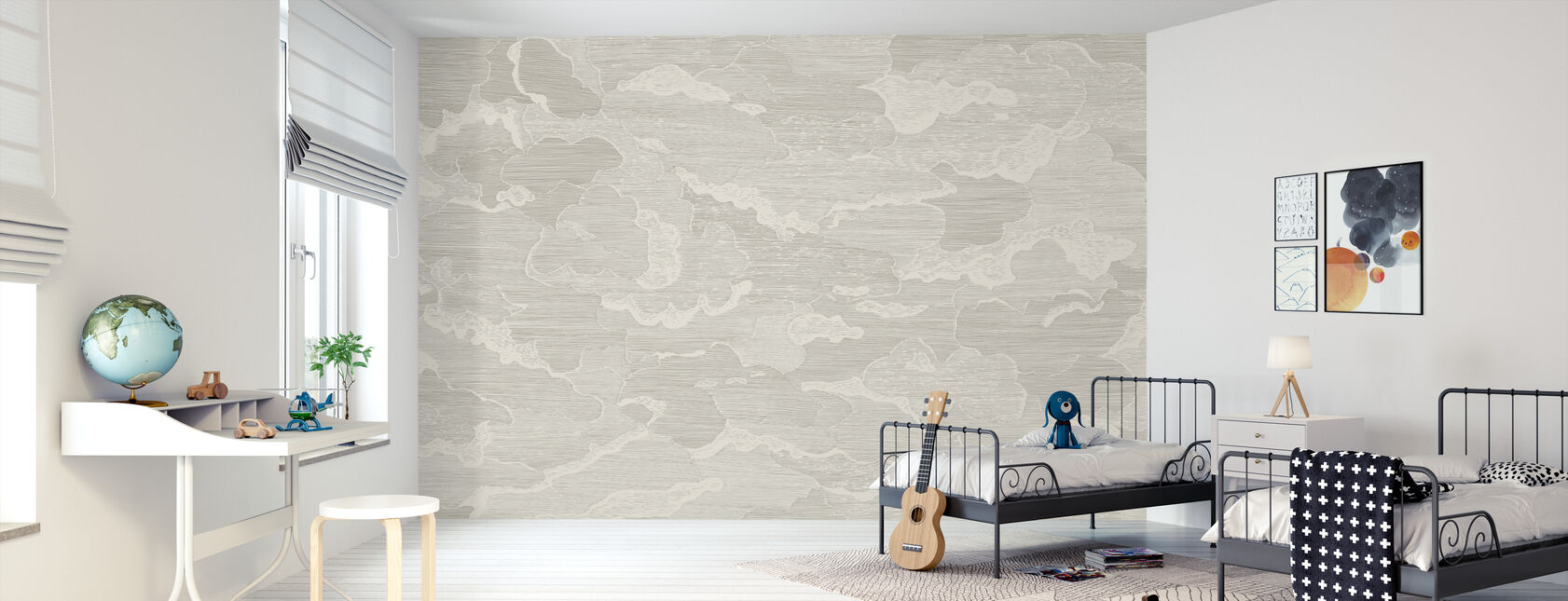 Up and Away - Greige - Wallpaper - Kids Room