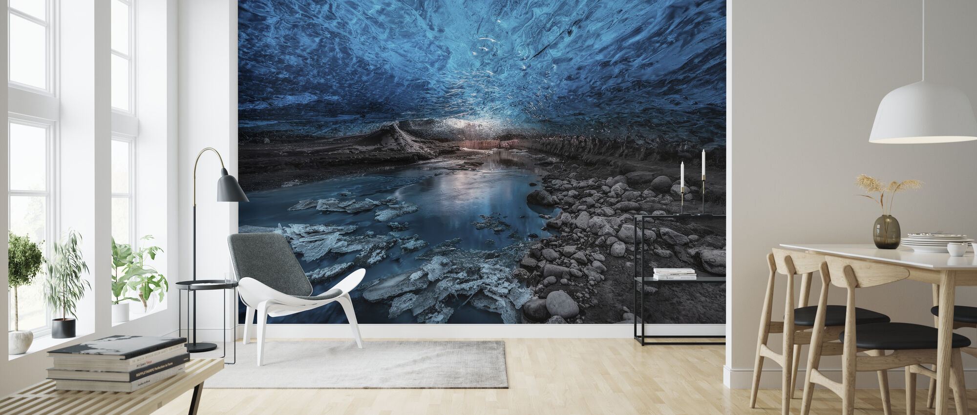 Ice Cave - Wallpaper - Living Room