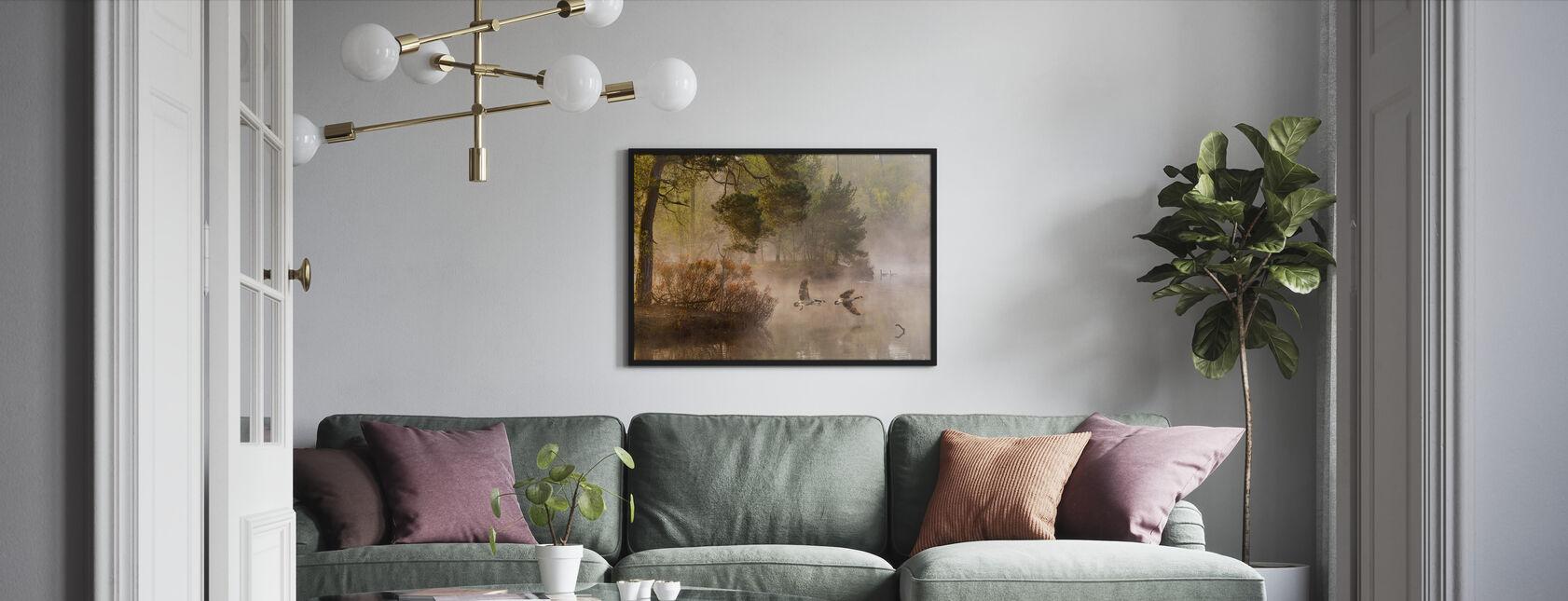 Goose Fight - Framed print - Living Room