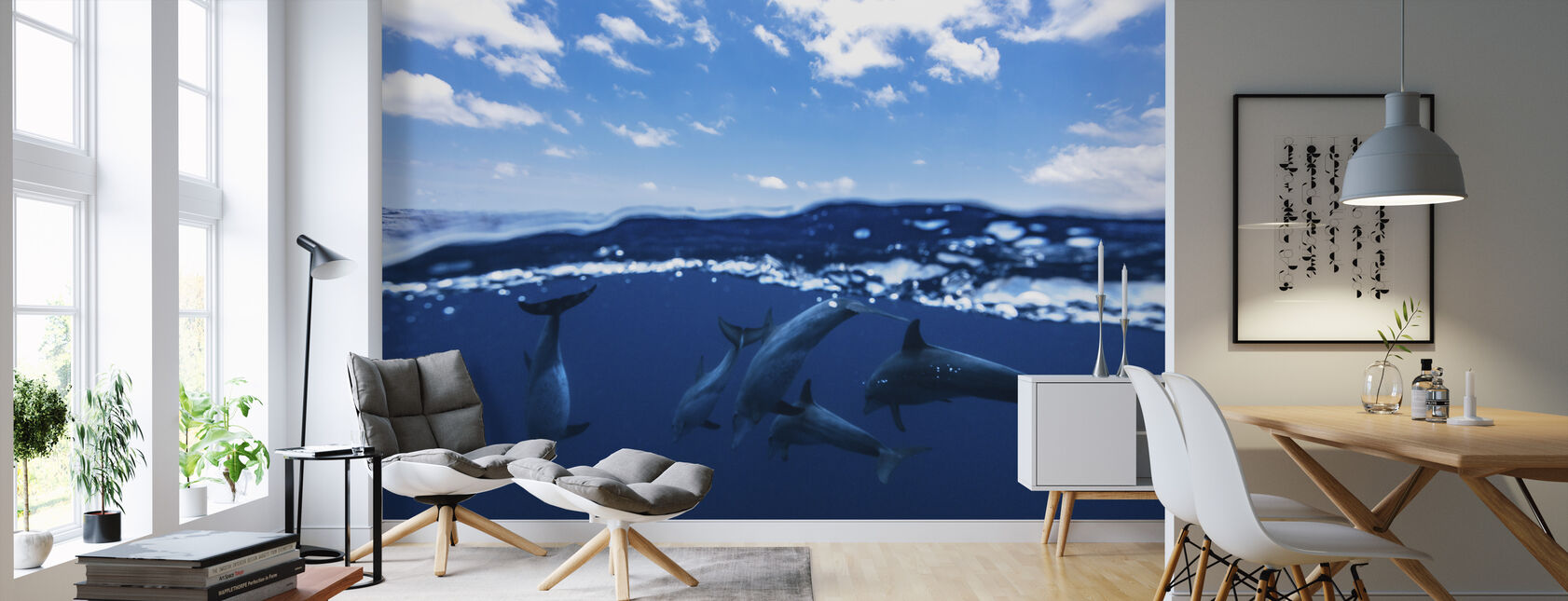 Between Air and Water - Wallpaper - Living Room