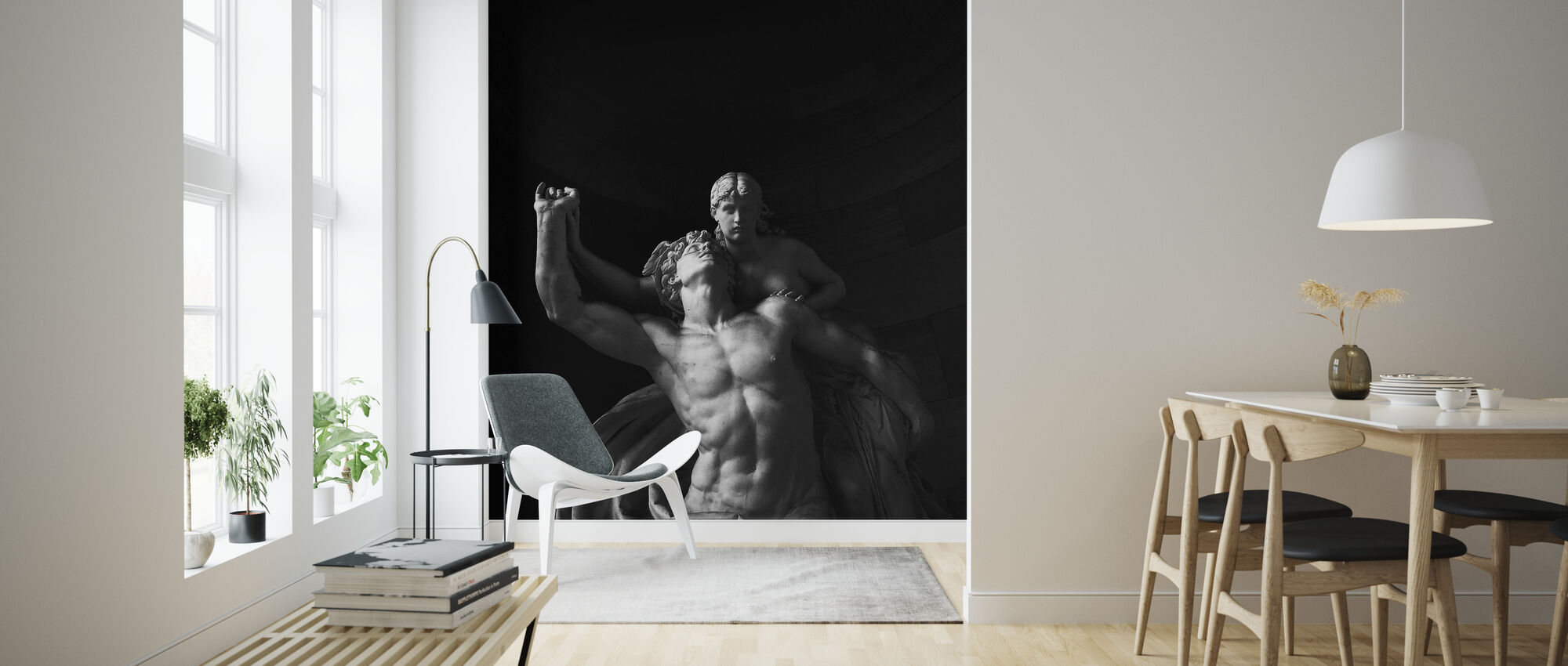 Statue - Wallpaper - Living Room