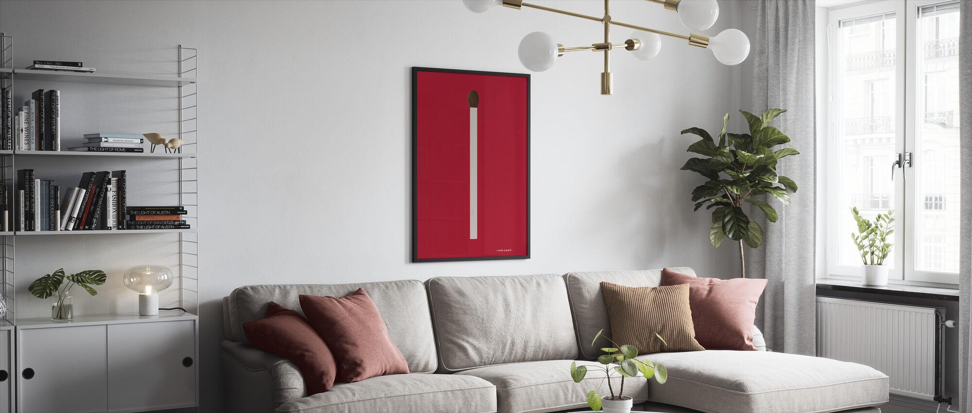 Match III - Framed print - Living Room