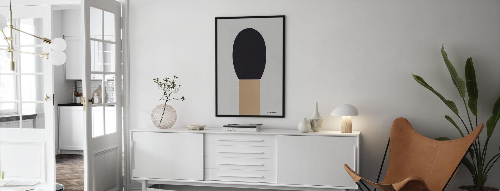 Match - Framed print - Living Room