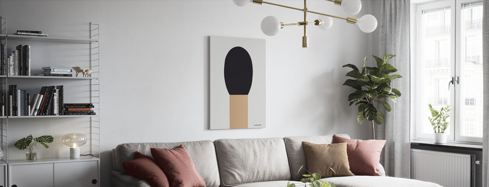 Match - Canvas print - Living Room