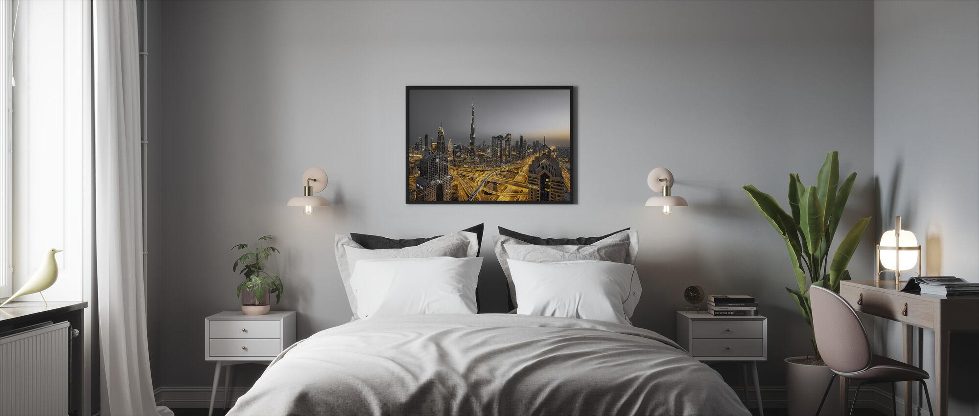 Kultainen valo - Kehystetty kuva - Makuuhuone