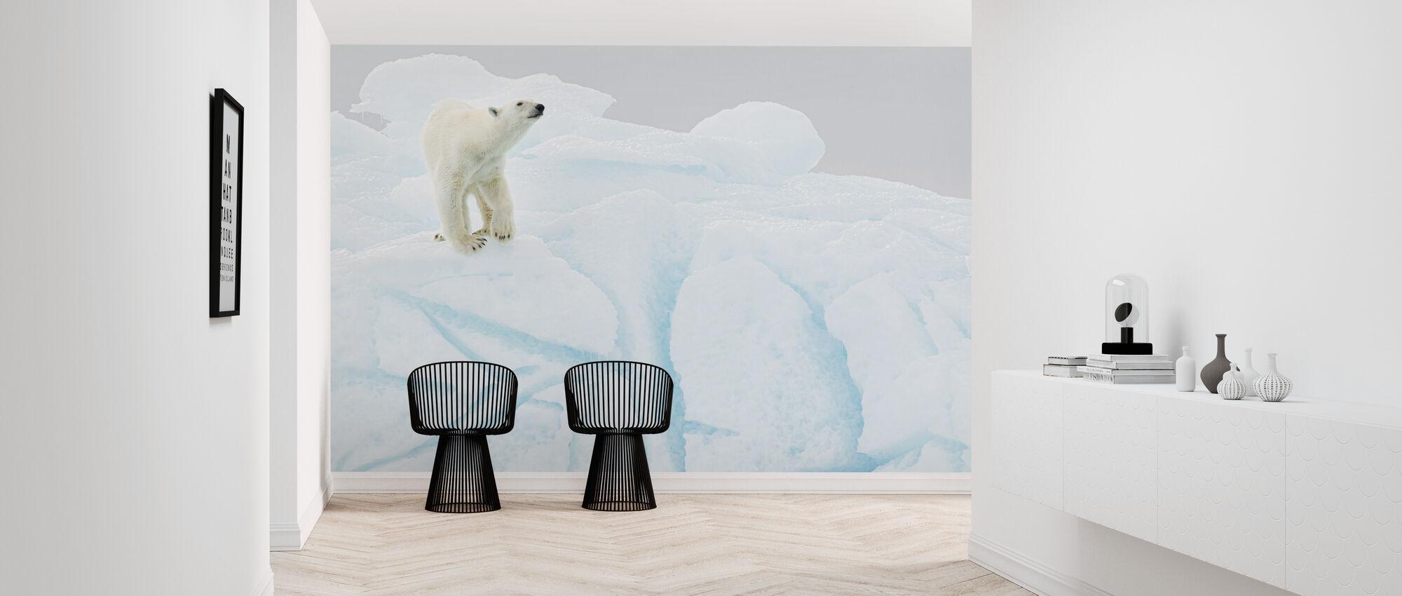 IJsbeer op ijsberg - Behang - Gang