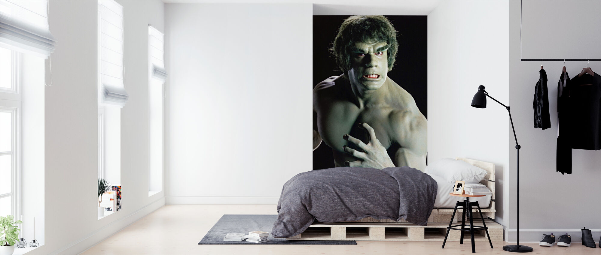 Incredible Hulk the TV - Wallpaper - Bedroom
