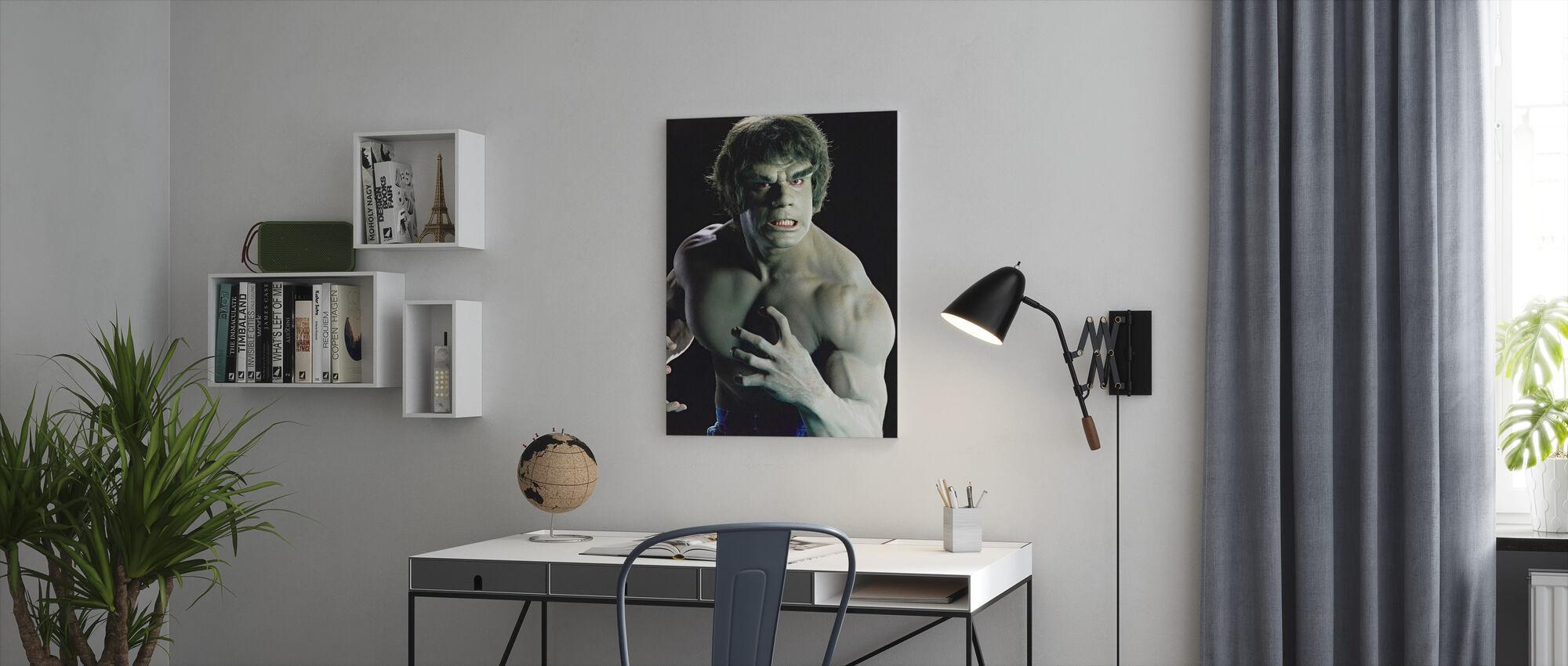 Incredible Hulk the TV - Canvas print - Office