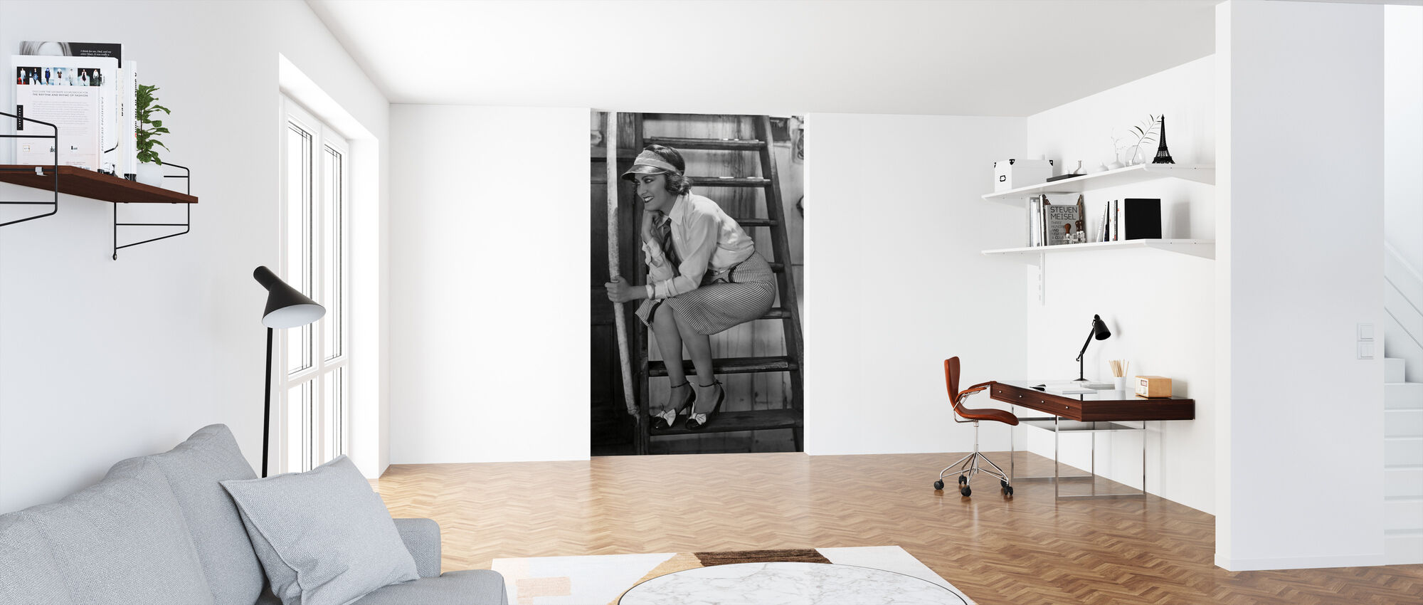 Sadie Thompson - Gloria Swanson - Behang - Kantoor