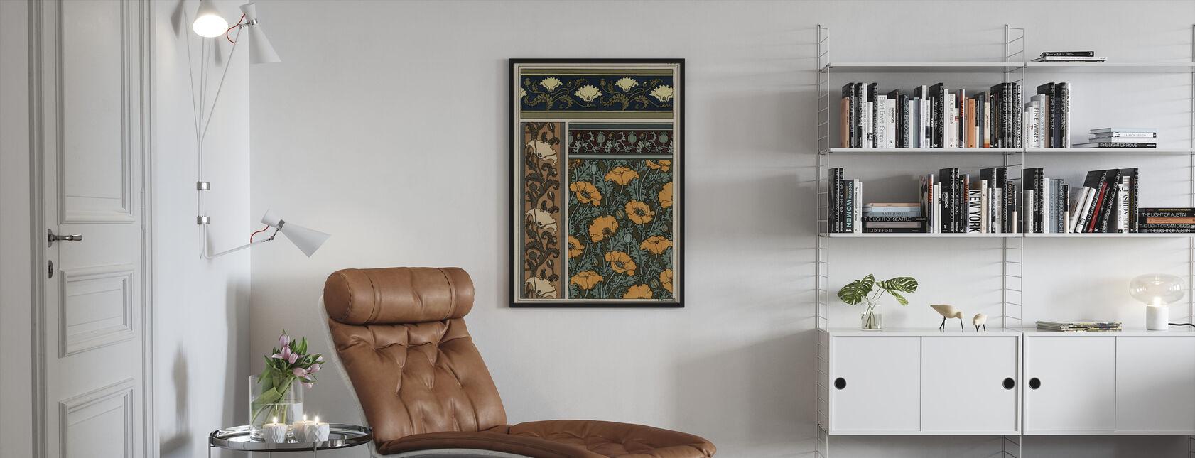 Poppy - Infographics - Framed print - Living Room