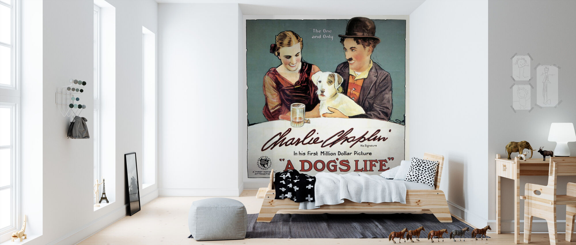 Honden leven - Infographics - Behang - Kinderkamer