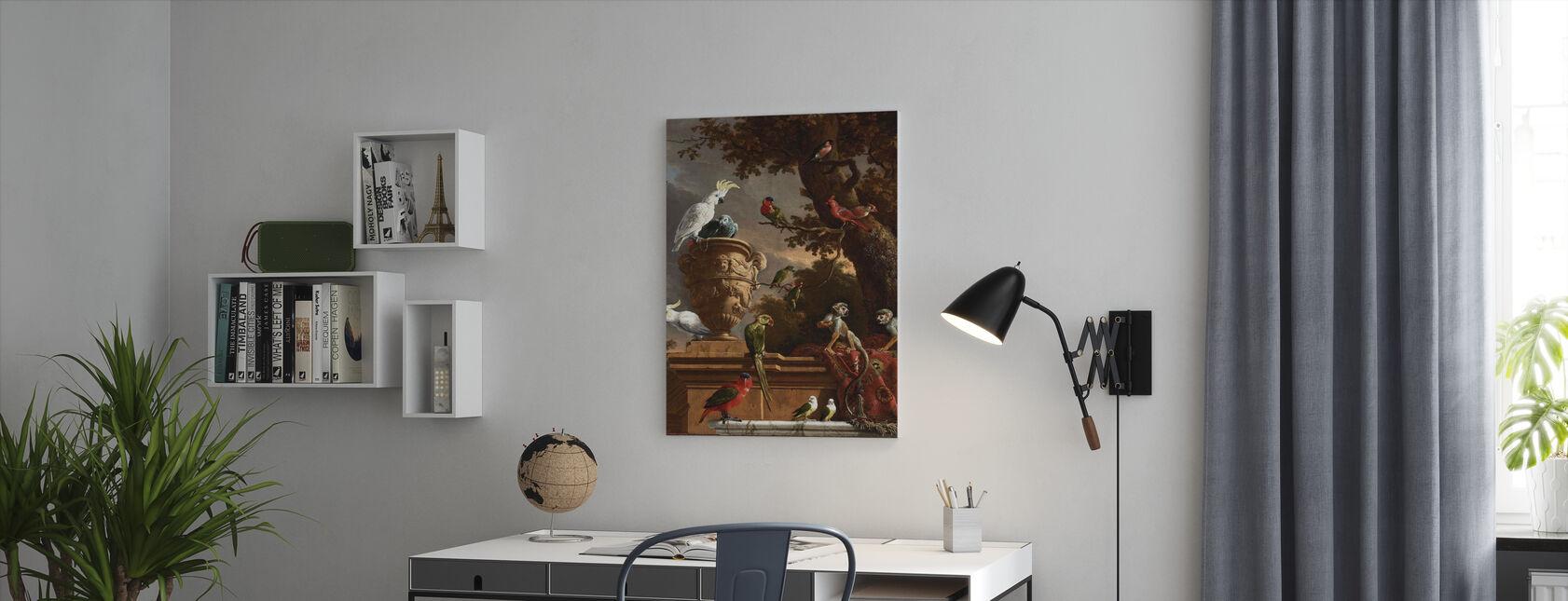Menagerie - Melchior D'Hondecoeter - Canvas print - Kantoor