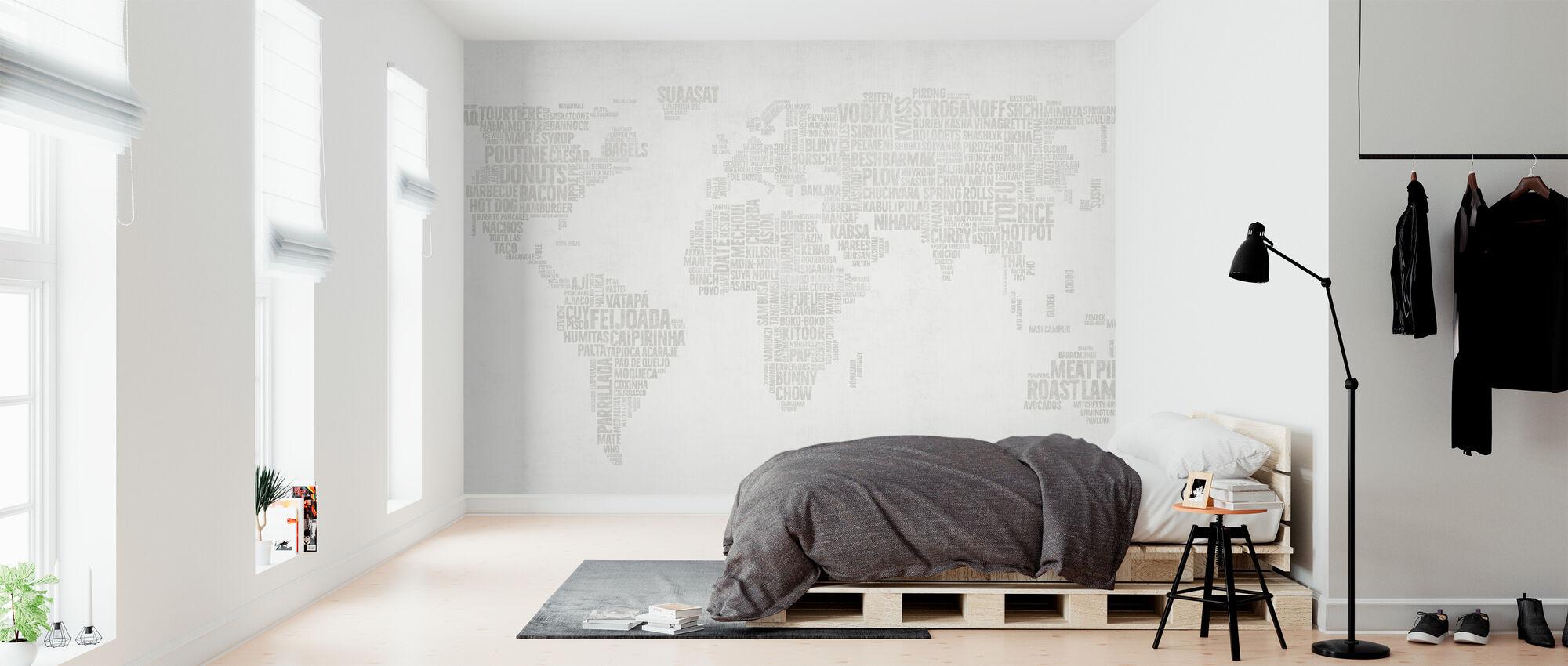 Maailman Menu Kartta - Kirkas - Tapetti - Makuuhuone