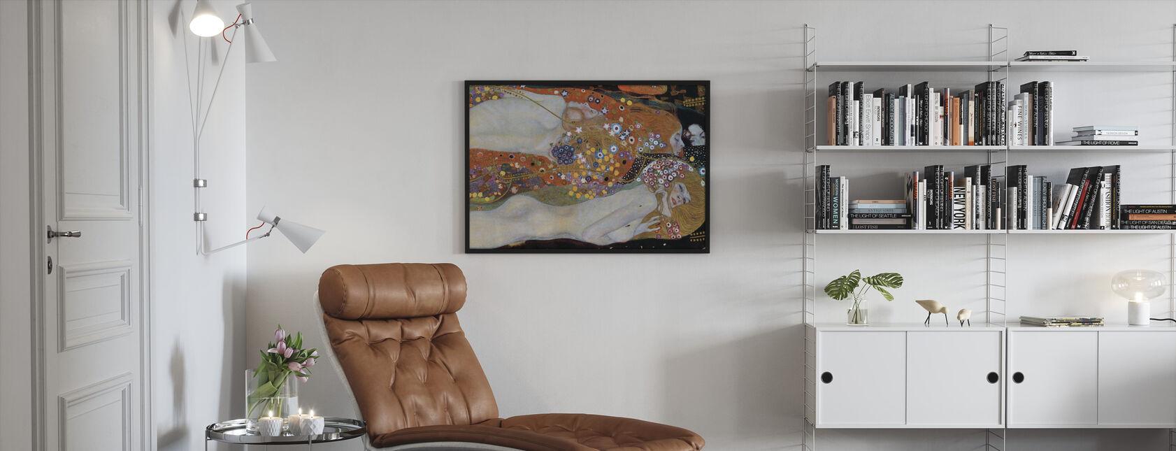 Waterslangen - Gustav Klimt - Ingelijste print - Woonkamer