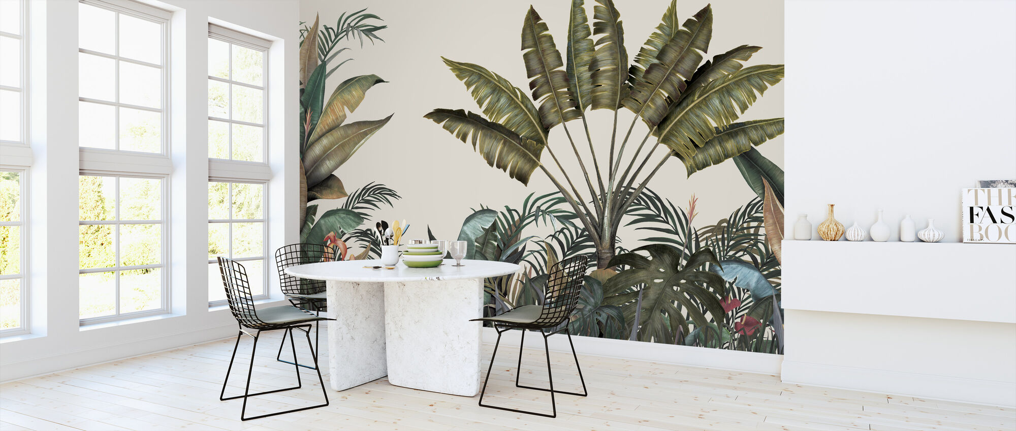 Tropical - Large Leaves - Wallpaper - Kitchen
