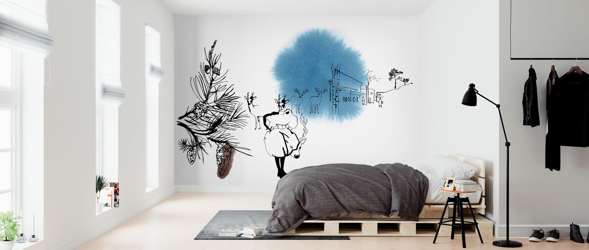 Björkhagen - Carta da parati - Camera da letto