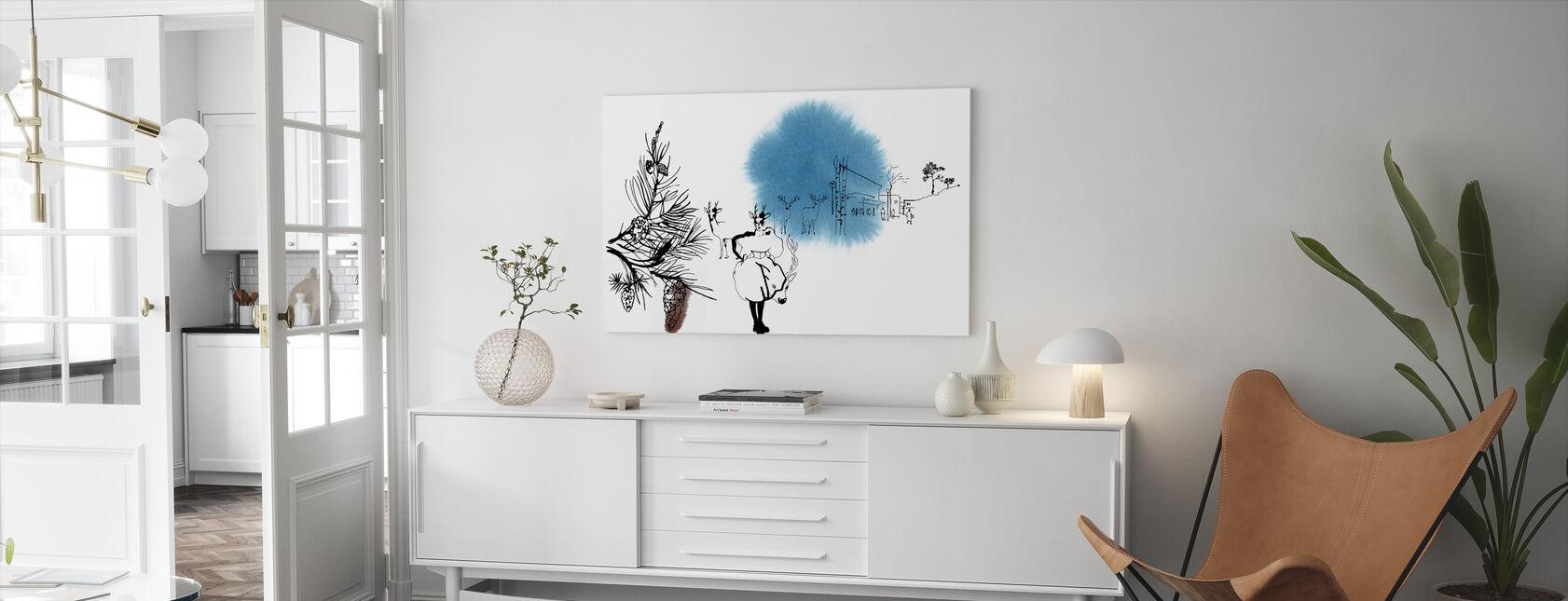 Björkhagen - Canvas print - Living Room