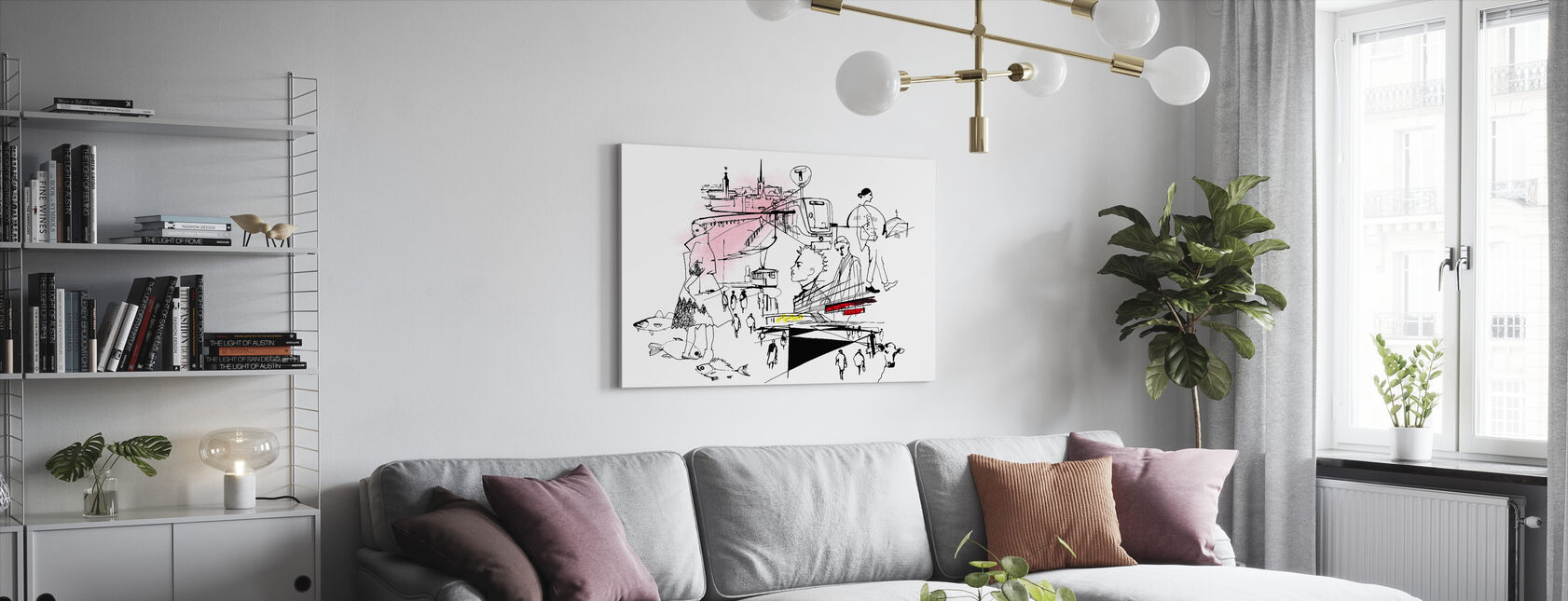 City of Stockholm - Canvas print - Living Room