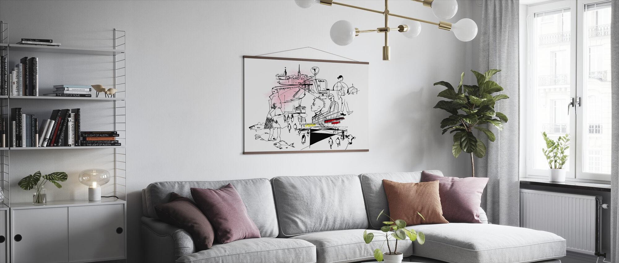 City of Stockholm - Poster - Living Room