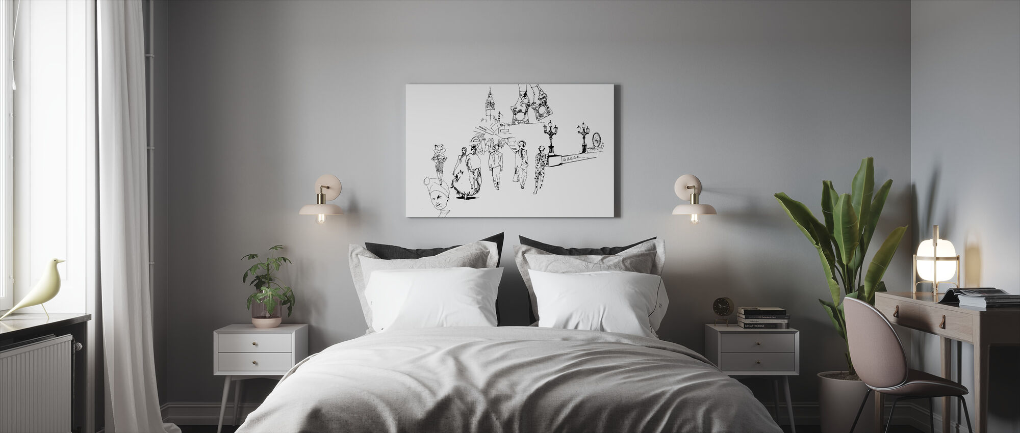 London Metro Fashion - Canvas print - Bedroom