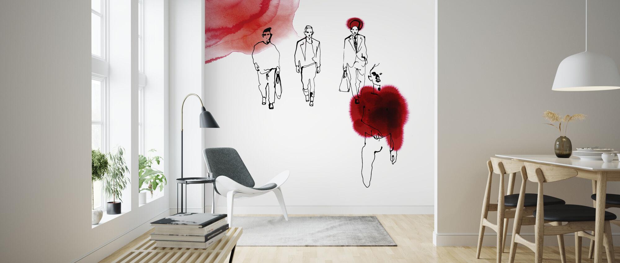 Red Runway - Wallpaper - Living Room