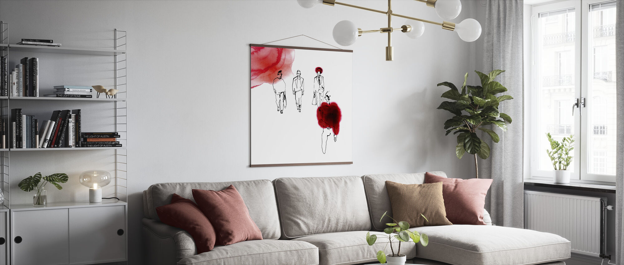 Red Runway - Poster - Living Room