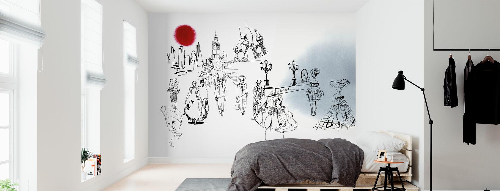 De London Editie - Behang - Slaapkamer