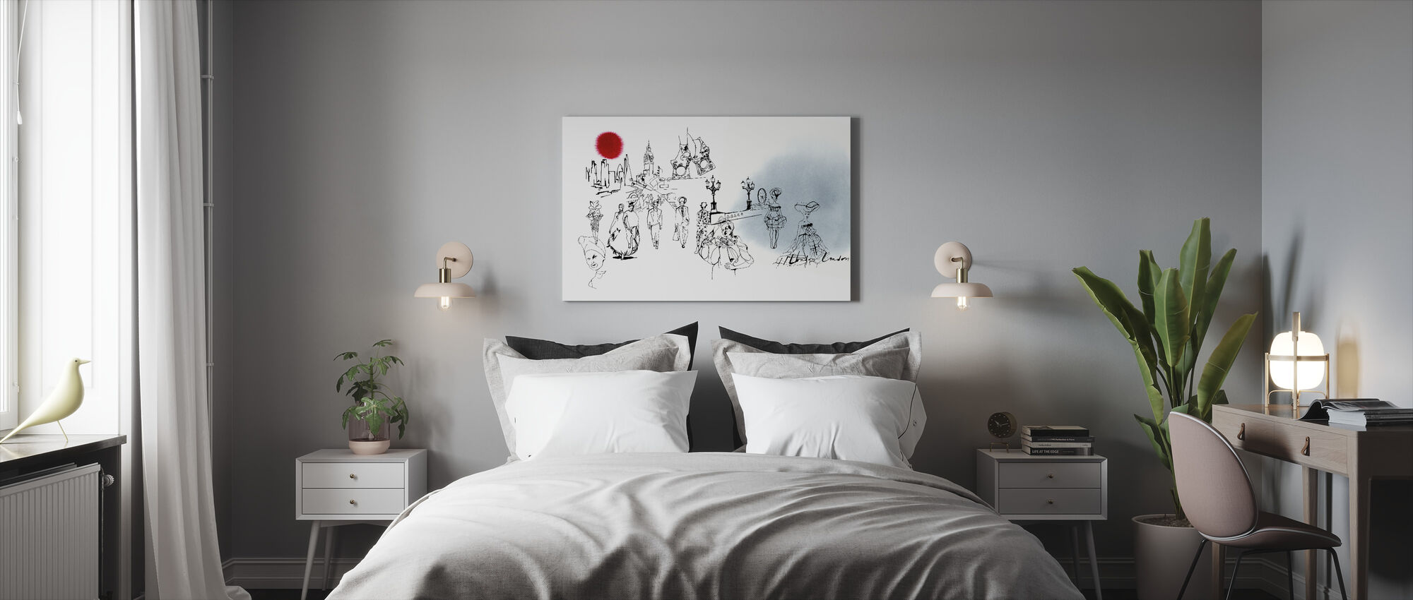 The London Edition - Canvas print - Bedroom