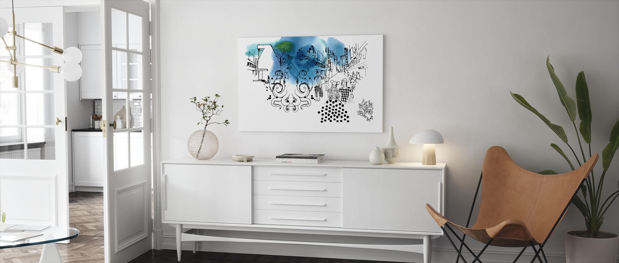Tokyo II - Canvas print - Living Room