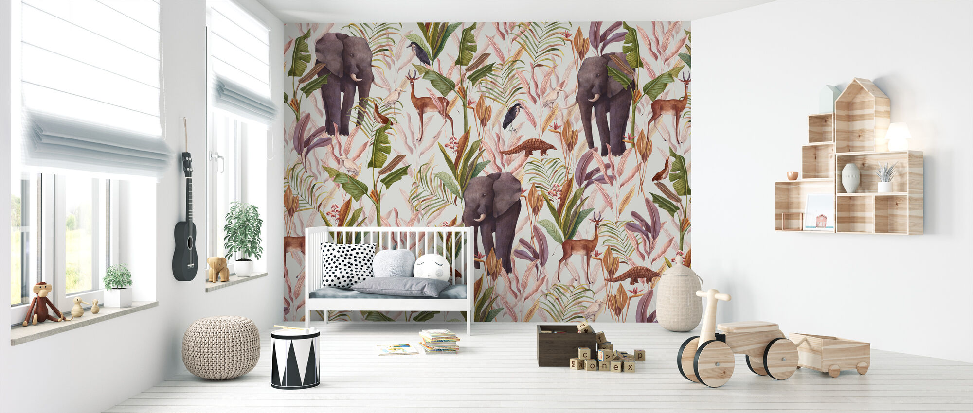 Exotico - Bright - Wallpaper - Nursery